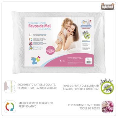 Imagem 2 do produto Travesseiro Favos de Mel Antissufocante - Fibrasca