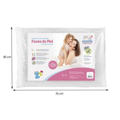 Imagem 3 do produto Travesseiro Favos de Mel Antissufocante - Fibrasca