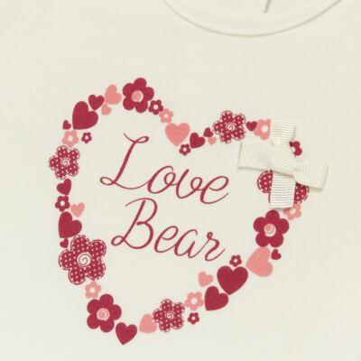 Imagem 2 do produto Blusinha para bebe em cotton Flowery Bear - Vicky Lipe - 1371360 BLUSINHA MC COTTON URSA FLORAL-GG