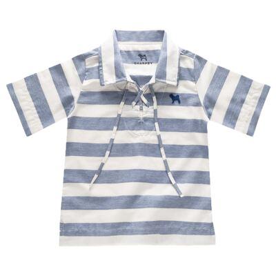 Imagem 1 do produto Bata para bebe em linho Stripes - Charpey - CY20104.552 BATA LINHO LISTRADO NOITE -1