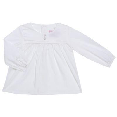 Imagem 1 do produto Bata manga longa em tricoline Off White - Missfloor - 50NV0001.369 BATA M/L - TRICOLINE-1