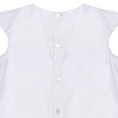 Imagem 3 do produto Bata em tricoline & renda Off White - Missfloor - 50MC0001.369  BATA AVULSA MC - TRICOLINE-1