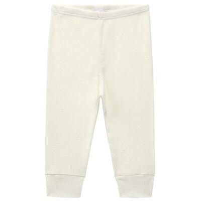 Imagem 3 do produto Body longo c/ Calça para bebe em algodão canelado Marfim - Dedeka - DDK0880/14 Conjunto Body Canelado Marfim-RN