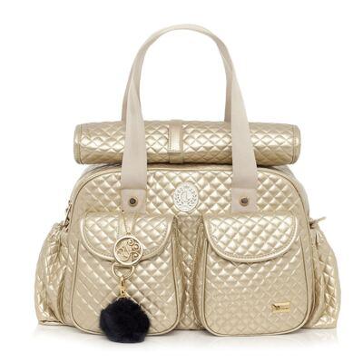 Imagem 1 do produto Bolsa maternidade New Metálica Ouro - Lequiqui