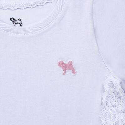 Imagem 3 do produto Blusinha em cotton Renda Branca - Charpey