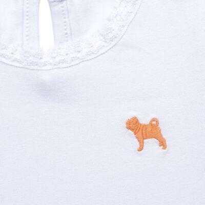 Imagem 2 do produto Blusinha para bebe em cotton Branca - Charpey - CY21302.101 BLUSA COTTON ML BRANCO-P
