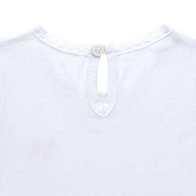 Imagem 3 do produto Blusinha para bebe em cotton Branca - Charpey - CY21302.101 BLUSA COTTON ML BRANCO-1