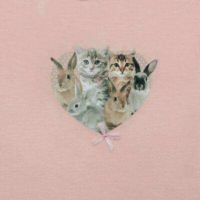 Imagem 2 do produto Blusinha para bebe em viscolycra Cats & Rabbits - Baby Classic - 016961 BLUSINHA M/L VISCOLYCRA PET PRINT-1