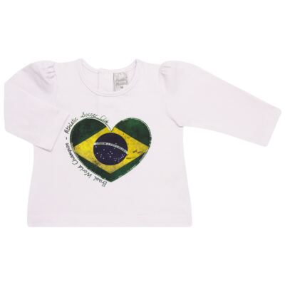 Imagem 1 do produto Blusinha manga longa para bebe em cotton Brasil - Baby Classic - 078353 BLUSINHA ML COTTON COPA-M