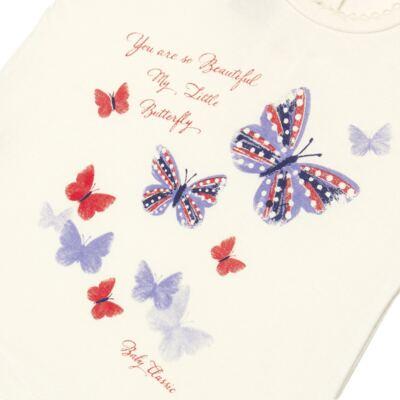 Imagem 2 do produto Blusinha para bebe em viscolycra Butterflies - Baby Classic - 6711629 BLUSINHA BASICA FEM. VISCOLYCRA BUTTERFLY 2 -3