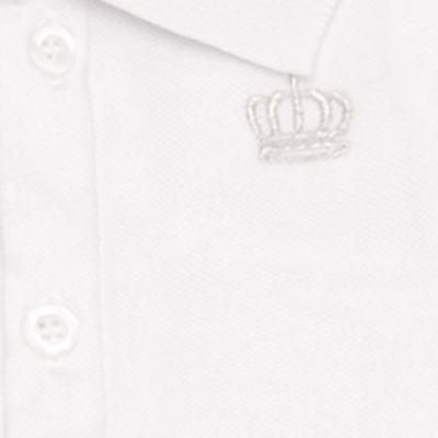 Imagem 2 do produto Polo para bebe em piquet Soft White - Baby Classic