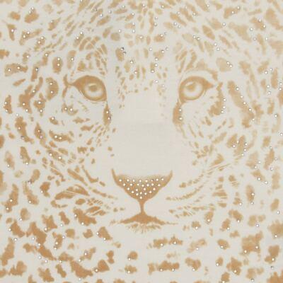 Imagem 2 do produto Blusinha manga longa para bebe em viscolycra Animal Print Caramel - Baby Classic - 016340 BLUSINHA GOLA CARECA VISCOLYCRA ONCINHA MARFIM-M