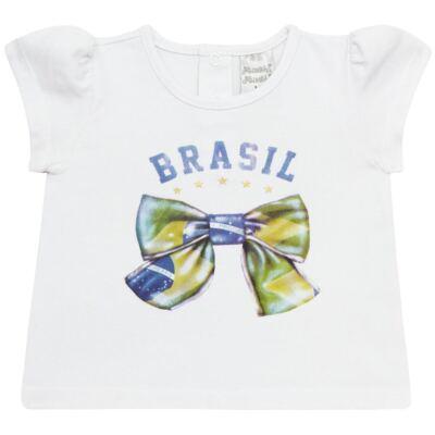 Imagem 1 do produto Blusinha bufante para bebe em cotton Brasil - Baby Classic - 671352 BLUSINHA BÁSICA FEM. COTTON COPA-P