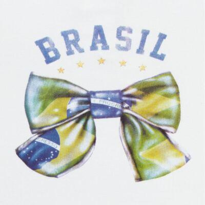 Imagem 2 do produto Blusinha bufante para bebe em cotton Brasil - Baby Classic - 671352 BLUSINHA BÁSICA FEM. COTTON COPA-P