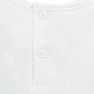 Imagem 3 do produto Blusinha para bebe em cotton Branca - Baby Classic - 137998 BLUSINHA MC COTTON BRANCO-P
