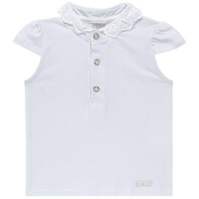 Imagem 1 do produto Blusinha para bebe em cotton Branca - Baby Classic - 21751445 BLUSINHA M/C GOLA COTTON CLÁSSICO-G