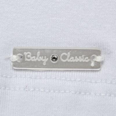 Imagem 3 do produto Blusinha para bebe em cotton Branca - Baby Classic - 21751445 BLUSINHA M/C GOLA COTTON CLÁSSICO-G
