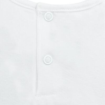 Imagem 3 do produto Blusinha para bebe em cotton Branca - Baby Classic - 137998 BLUSINHA MC COTTON BRANCO-2