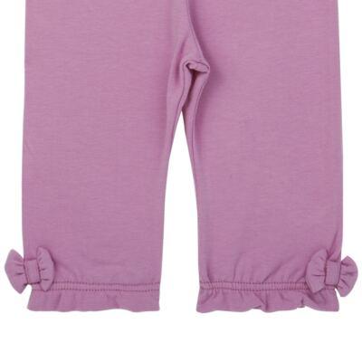 Imagem 2 do produto Legging para bebe em cotton FruFru & Laços Orquídea - Tilly Baby - TB183006 LEGGING FEM ORQUIDEA-G