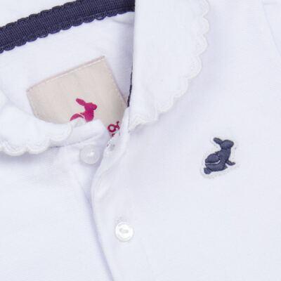 Imagem 2 do produto Polo manga longa em piquet Branca - Missfloor
