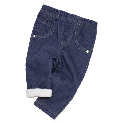 Imagem 5 do produto Calça para bebe forrada em fleece Basic Denim - Mini & Kids - CLCF0001.232 CALÇA C/FORRO - FLEECE-P