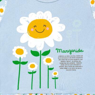 Imagem 3 do produto Pijama longo que Brilha no Escuro Little Daisies - Cara de Criança - L2073 MARGARIDA L PJ-LONGO M/MALHA -4