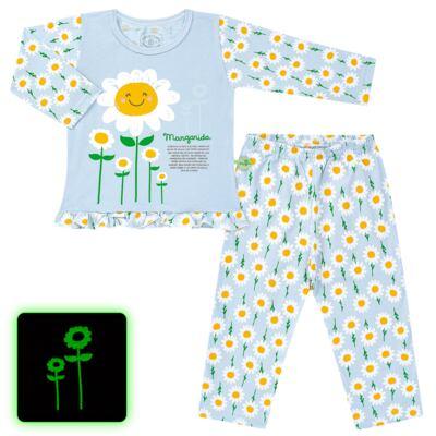 Imagem 1 do produto Pijama longo que Brilha no Escuro Little Daisies - Cara de Criança - L2073 MARGARIDA L PJ-LONGO M/MALHA -2