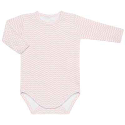 Imagem 3 do produto Pack 2 Bodies longos para bebe em suedine Ovelhinha Rosa - Petit - 10424344 PACK 2 BODIES M/L SUEDINE OVELHA FEM-RN