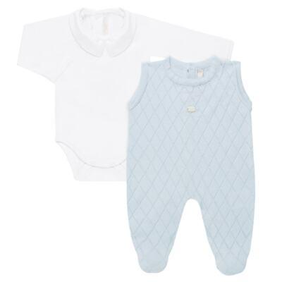Imagem 4 do produto Jardineira c/ Body longo em tricot Bleu - Petit