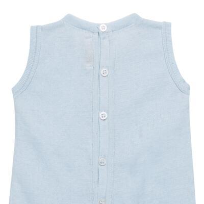 Imagem 5 do produto Jardineira c/ Body longo em tricot Bleu - Petit