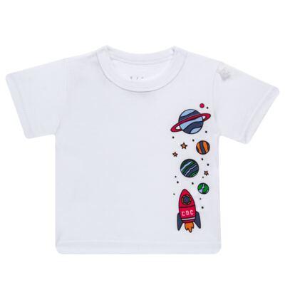 Imagem 2 do produto Conjunto de Banho para bebe Galaxy: Camiseta + Sunga - Cara de Criança - KIT 1 2578: SBB2578+CCAB2578 SUNGA E CAMISETA ESPACIAL-P