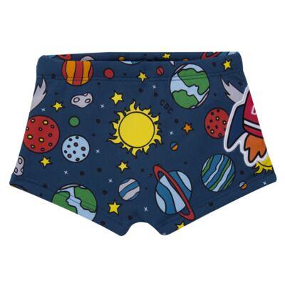 Imagem 3 do produto Conjunto de Banho para bebe Galaxy: Camiseta + Sunga - Cara de Criança - KIT 1 2578: SBB2578+CCAB2578 SUNGA E CAMISETA ESPACIAL-P