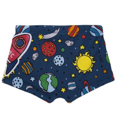 Imagem 4 do produto Conjunto de Banho para bebe Galaxy: Camiseta + Sunga - Cara de Criança - KIT 1 2578: SBB2578+CCAB2578 SUNGA E CAMISETA ESPACIAL-P