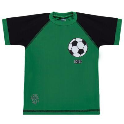 Imagem 2 do produto Conjunto de Banho Football: Camiseta surfista + Sunga - Cara de Criança - KIT 1 2529: SB2529+CSA2529 SUNGA E CAMISETA FUTEBOL-4