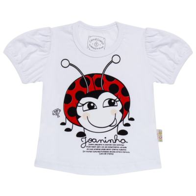 Imagem 2 do produto Pijama curto para bebe que Brilha no Escuro Joaninha - Cara de Criança - U2281 JOANINHA 10 U PIJAMA CURTO M/MALHA-2