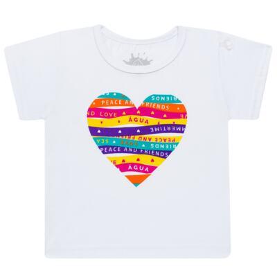 Imagem 2 do produto Conjunto de Banho Peace & Love: Camiseta + Biquíni - Cara de Criança - KIT 1 2586: B2586+CCA2586 BIQUINI E CAMISETA SUMMER-3