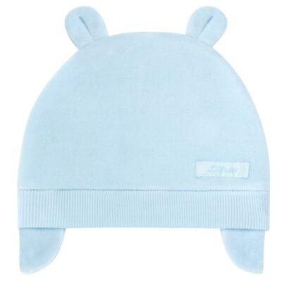 Imagem 1 do produto Touca Orelhinha para bebe em plush Azul - Tilly Baby - TB13173.09 GORRO BASICO DE PLUSH COM ORELHA AZUL-M