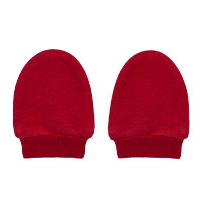 Imagem 3 do produto Kit Touca e Luva para bebe em suedine Vermelha - Tilly Baby - TB13114.04 GORRO E LUVA EM SUEDINE VERMELHO CEREJA-RN
