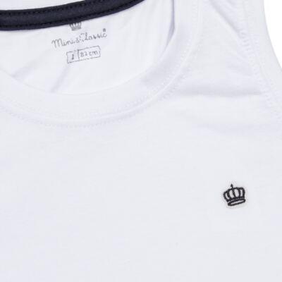 Imagem 2 do produto Regata em malha Branca - Mini & Classic - 9501671 REGATA AVULSA MALHA BRANCA-2