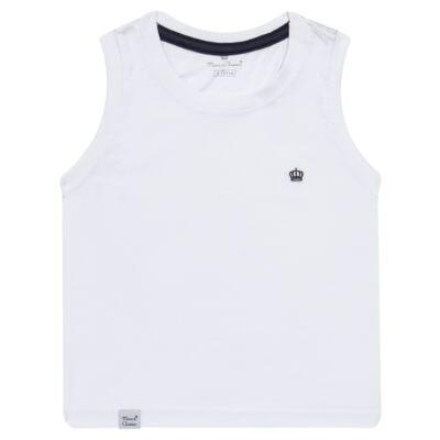 Imagem 1 do produto Regata em malha Branca - Mini & Classic - 9501671 REGATA AVULSA MALHA BRANCA-1