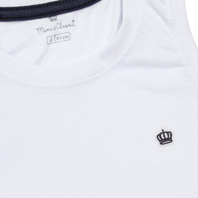Imagem 2 do produto Regata em malha Branca - Mini & Classic - 9501671 REGATA AVULSA MALHA BRANCA-3