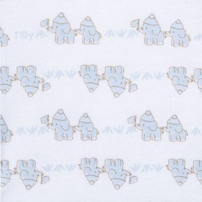 Imagem 3 do produto Conjunto Pagão Elefantinho: Casaquinho + Body longo + Calça - Tilly Baby - TB170221.01 KIT BODY CALCA E CASACO ELEFANTINHOS AZUL BEBE-M