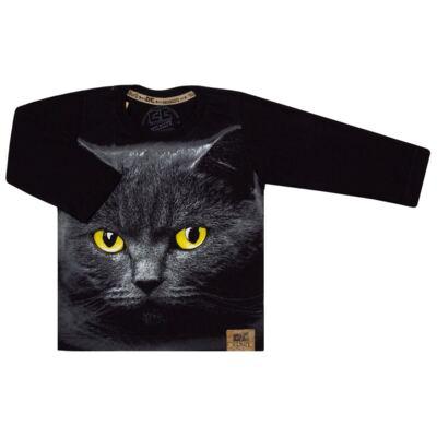 Imagem 1 do produto Camiseta longa em malha Gato - CDC Tshirt
