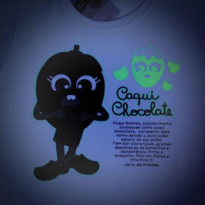 Imagem 4 do produto Pijama Curto que Brilha no Escuro Caqui Chocolate - Cara de Criança - C1912 CAQUI CHOCOLATE C PJ - MG CURTA C/CALCA M/MALHA -3