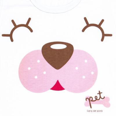 Imagem 3 do produto Pijama curto com Shorts em malha Cachorrinha - Cara de Sono - U2118 PET MENINA PIJAMA-CURTO M/MALHA-2