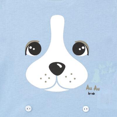 Imagem 3 do produto Pijama 4 botões que Brilha no Escuro Blue Dog - Cara de Criança - 4L2218 PET MENINO 4L PJ  BOTOES -LONGO M/MALHA-P