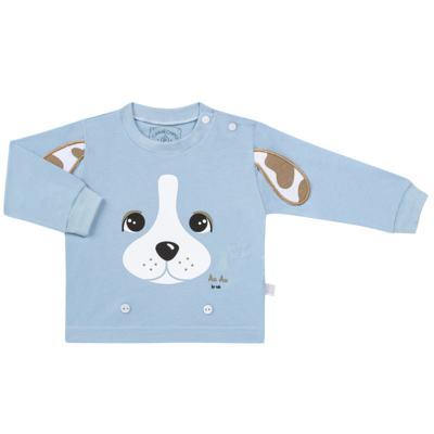 Imagem 2 do produto Pijama 4 botões que Brilha no Escuro Blue Dog - Cara de Criança - 4L2218 PET MENINO 4L PJ  BOTOES -LONGO M/MALHA-M