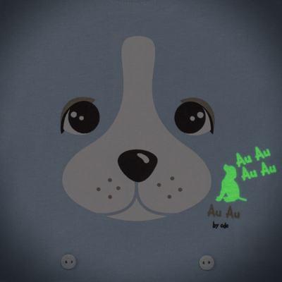 Imagem 4 do produto Pijama 4 botões que Brilha no Escuro Blue Dog - Cara de Criança - 4L2218 PET MENINO 4L PJ  BOTOES -LONGO M/MALHA-M