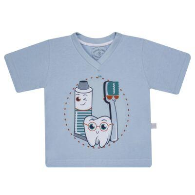 Imagem 2 do produto Pijama curto que Brilha no Escuro Dentinho - Cara de Criança - U2887 TIME SORRISO MASC. U PIJAMA CURTO M/MALHA -2