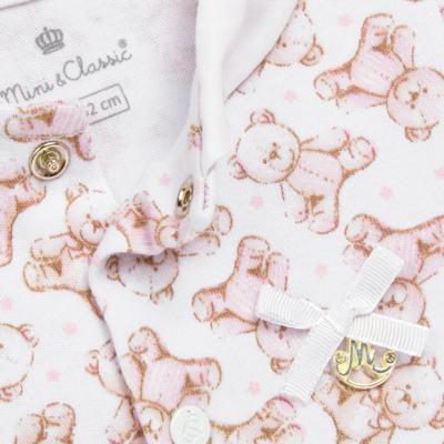 Imagem 2 do produto Macacão para bebe em algodão egípcio c/ jato de cerâmica Princess Bear - Mini & Classic - 3032655 MACACAO M/C C/ GOLA SUEDINE URSA -G